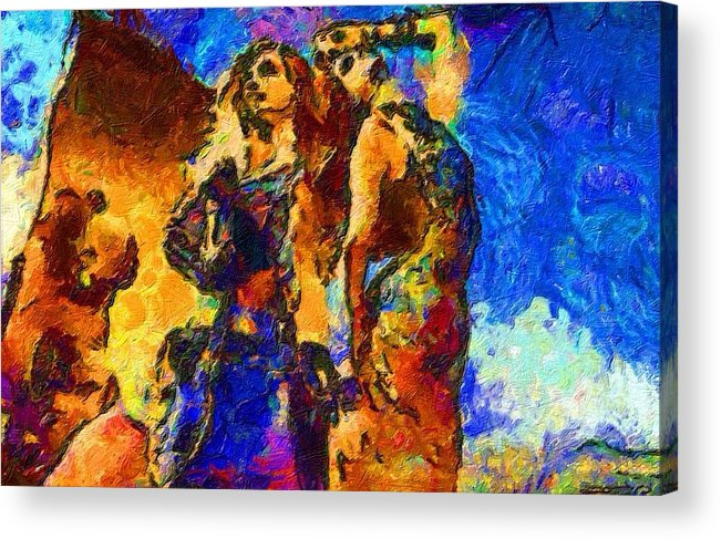 Impressionist Fashion Painting Acrylic Print featuring the painting Fashion 317 by Jacques Silberstein
