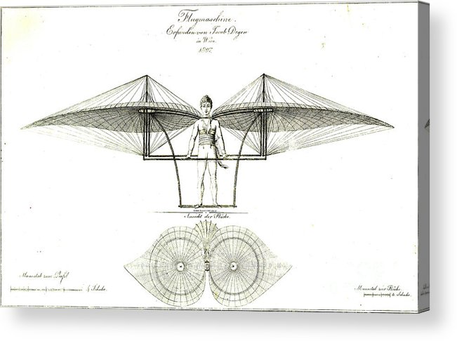 Flugmaschine 1807 Acrylic Print featuring the photograph Flugmaschine 1807 by Padre Art
