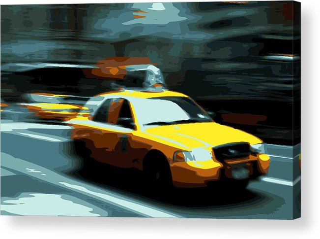 Taxi Acrylic Print featuring the photograph Nyc Taxi Color 16 by Scott Kelley