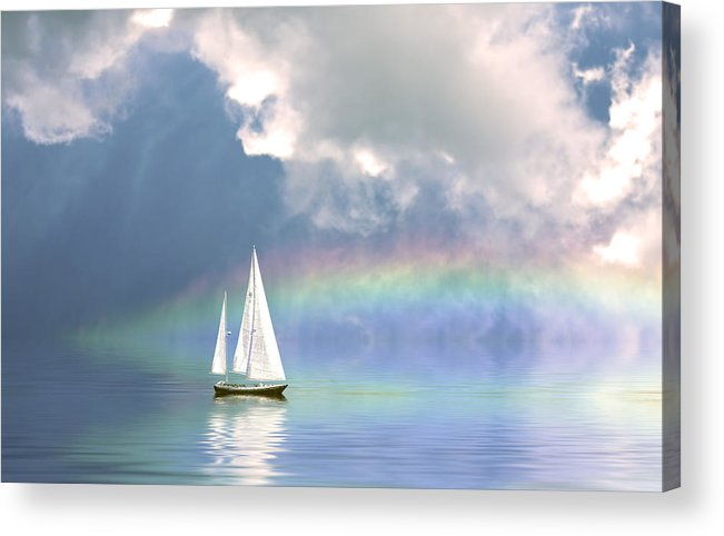 Sailing Acrylic Print featuring the photograph Rainbow Cruise by Stephen Warren