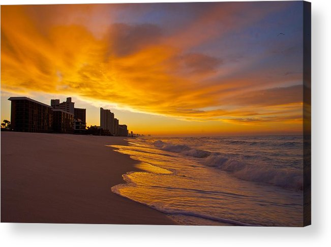 Sunset Acrylic Print featuring the photograph Reaching Out by Justin Robertson