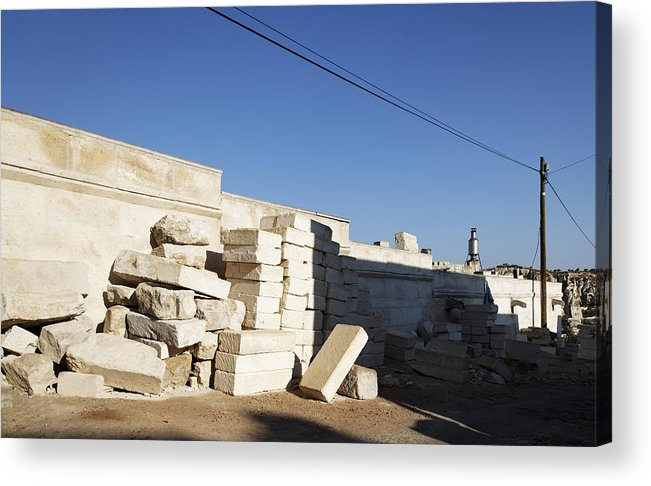 Interesting Acrylic Print featuring the photograph Tall Shadows Goreme Streets by Kantilal Patel