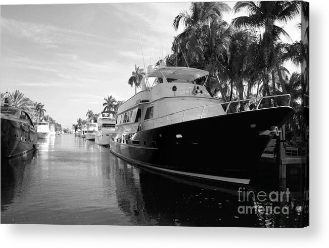 Black And White Acrylic Print featuring the photograph Thanks A Yacht by Leanna Rosato