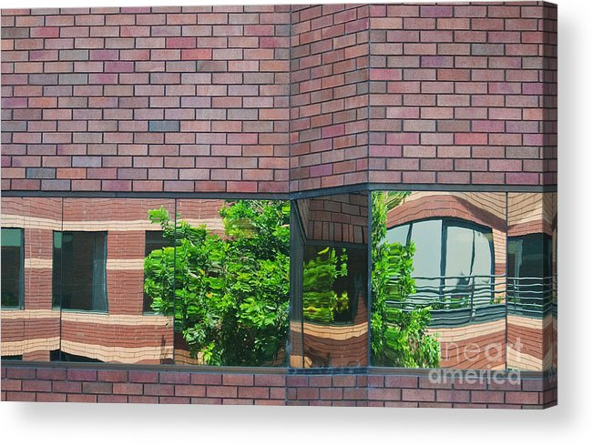 Architecture Acrylic Print featuring the photograph Wall Warp by Dan Holm