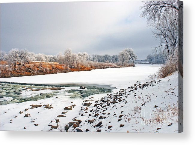 Red River Acrylic Print featuring the photograph Winter Red River 2012 by Steve Augustin