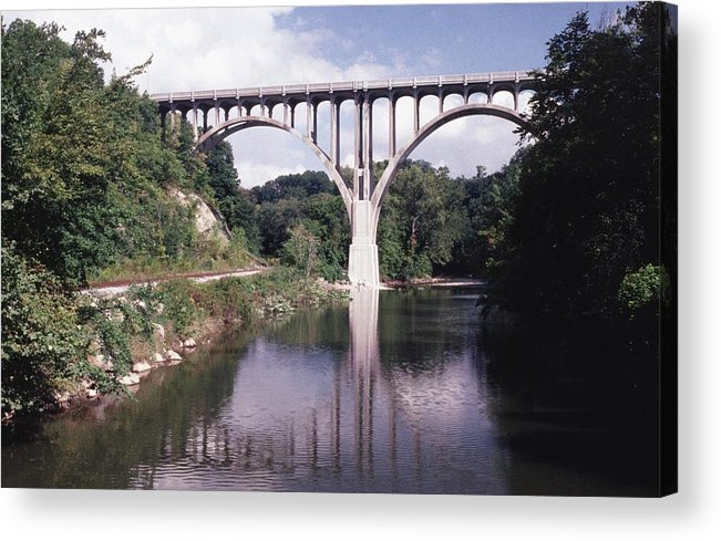 Bridge Acrylic Print featuring the photograph 091208-2 by Mike Davis