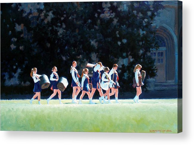 Band Acrylic Print featuring the painting Pep Squad by Kevin Lawrence Leveque