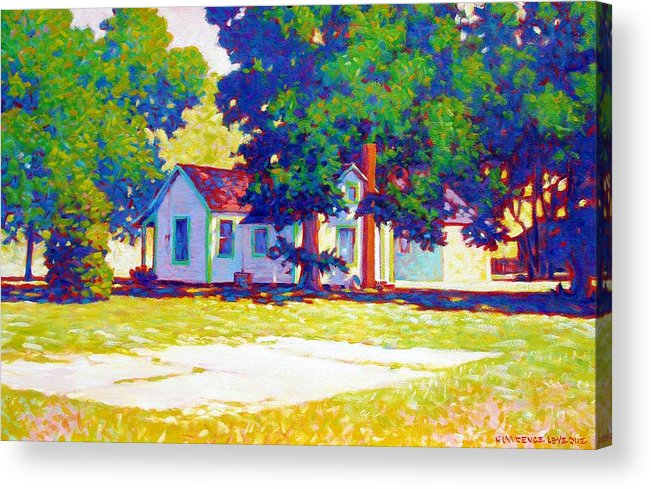 City Acrylic Print featuring the painting The Old Slab by Kevin Lawrence Leveque