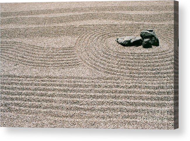 Zen Acrylic Print featuring the photograph Zen Garden by Dean Triolo