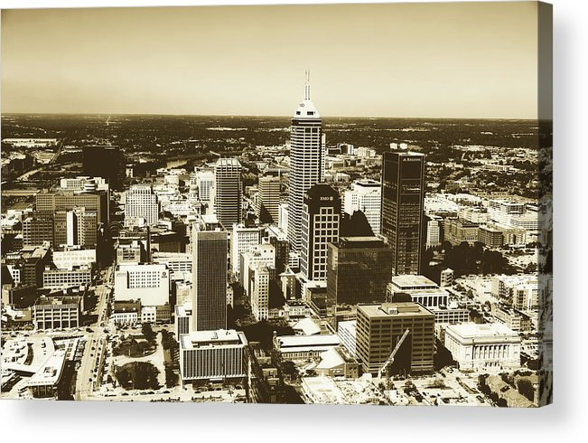 Bank One Tower Acrylic Print featuring the photograph Downtown Indianapolis by Library Of Congress
