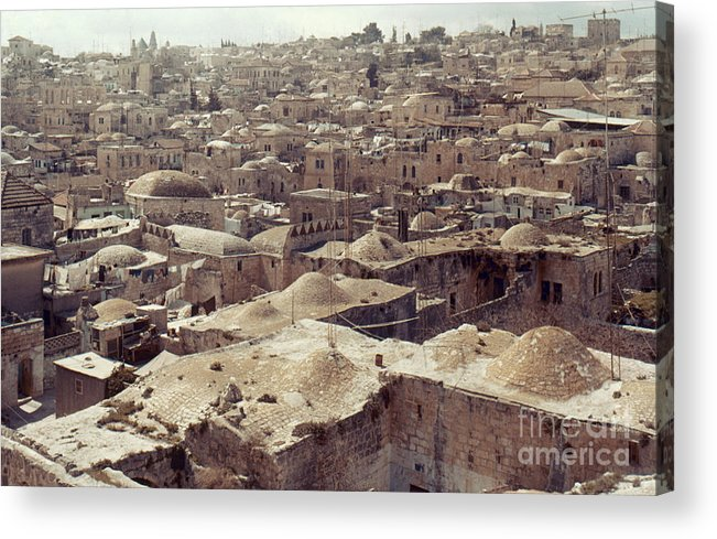 Architecture Acrylic Print featuring the photograph Holy Land: Jerusalem by Granger