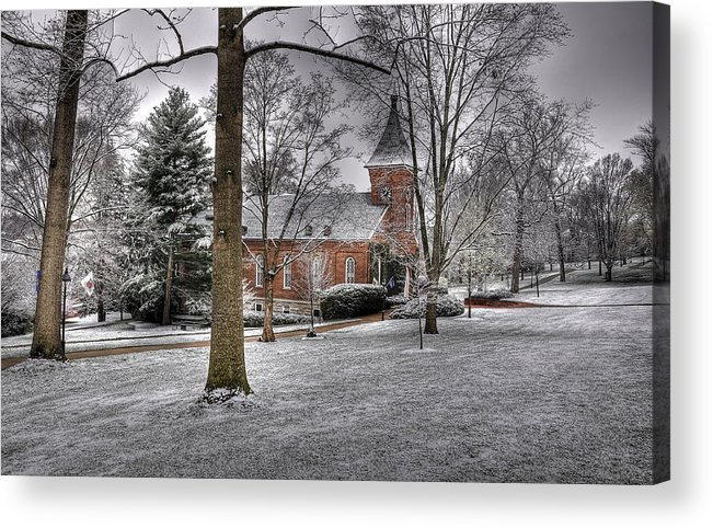 Lee Chapel Acrylic Print featuring the photograph Lee Chapel by Todd Hostetter