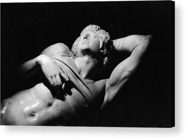 The Dying Slave Acrylic Print featuring the photograph The Dying Slave by Michelangelo Buonarroti