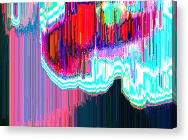 Abstract Acrylic Print featuring the digital art Astral3 by Lyle Crump