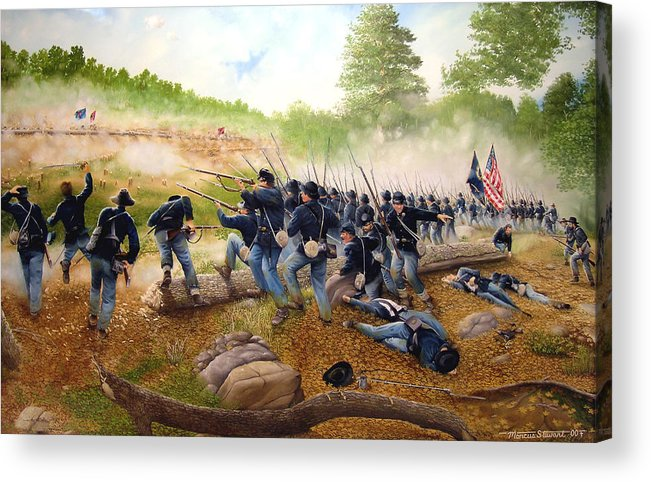 Civil War Acrylic Print featuring the painting Battle Of Utoy Creek by Marc Stewart