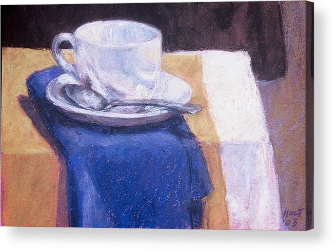 Still Life Painting Acrylic Print featuring the painting Blue Napkin by Dolores Holt