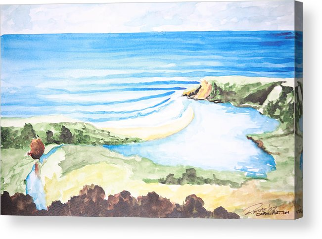 Surf Acrylic Print featuring the painting Bluebird by Ronnie Jackson