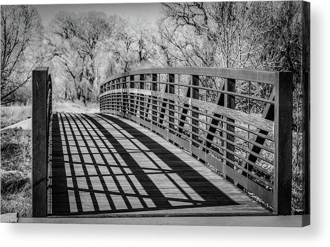 Shadow Acrylic Print featuring the photograph Bridge Shadows by Aaron Hill