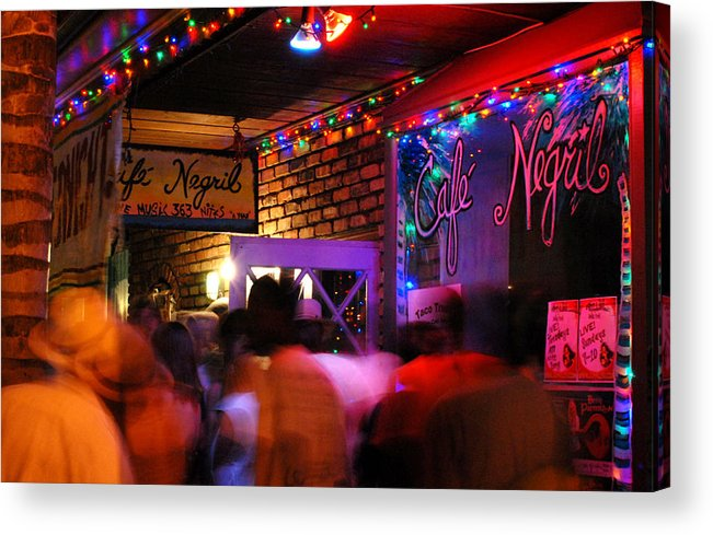 New Orleans Acrylic Print featuring the photograph Cafe Negril 2010 by Wayne Archer
