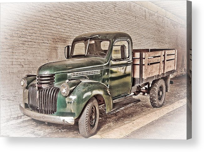 Truck Acrylic Print featuring the digital art Chevy Truck by Ches Black