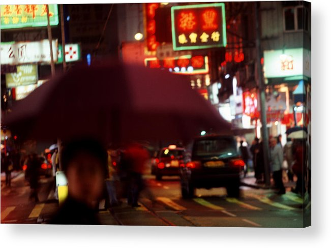 China Acrylic Print featuring the photograph China Street Scene Hong Kong by Brad Rickerby