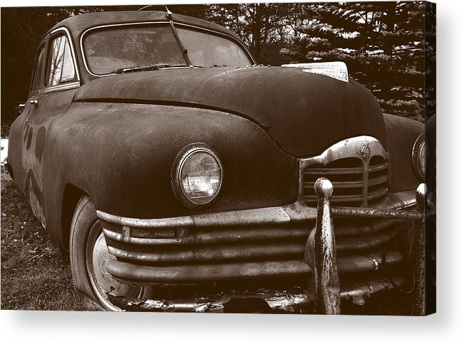 Old Car Acrylic Print featuring the photograph Chocolate Moose by Jean Macaluso