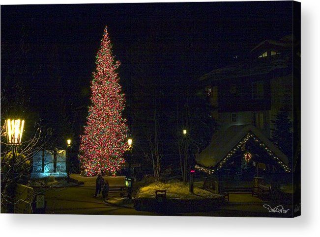 Christmas Landscape Acrylic Print featuring the photograph Christmas In Vail by David Salter