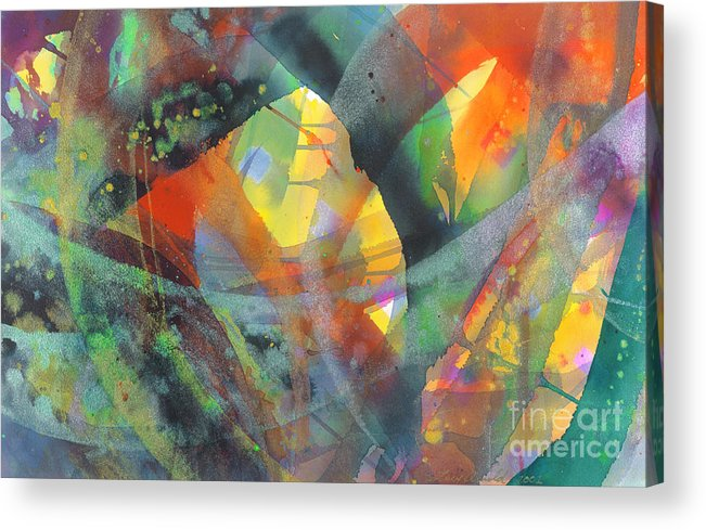 Abstract Acrylic Print featuring the painting Connections by Lucy Arnold