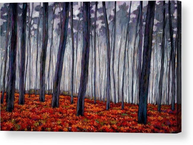 Landscape Acrylic Print featuring the painting Crimson Walk by Johnathan Harris