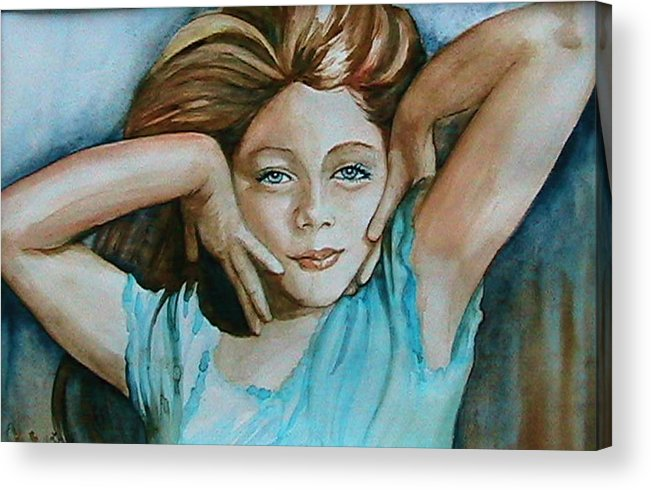 Portrait Commission Acrylic Print featuring the painting Diva by L Lauter