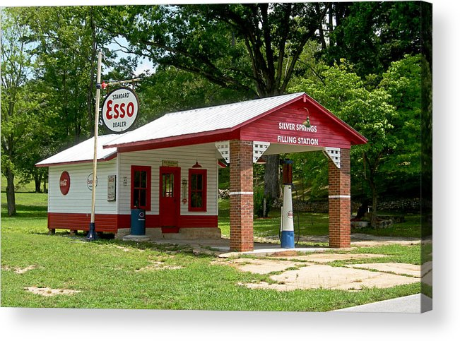 Esso Filling Station Acrylic Print featuring the photograph Esso Station by Greg Joens