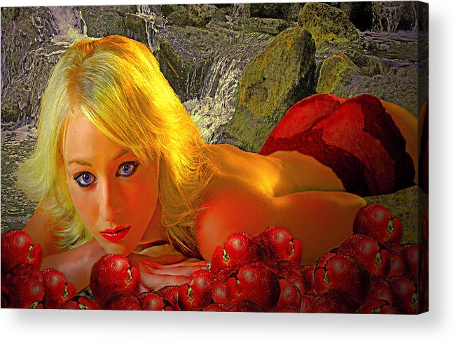 Apple Acrylic Print featuring the photograph Eve In The Garden by Jeff Burgess