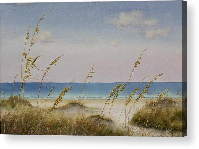Beach Acrylic Print featuring the painting Folly Beach by Cindy Davis