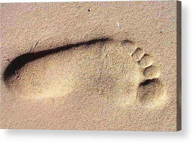 Photography Acrylic Print featuring the photograph Foot by Katina Cote