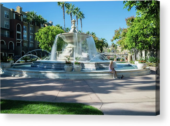 Fountain At Rio Vista Acrylic Print featuring the photograph Fountain At Rio Vista by Robert VanDerWal