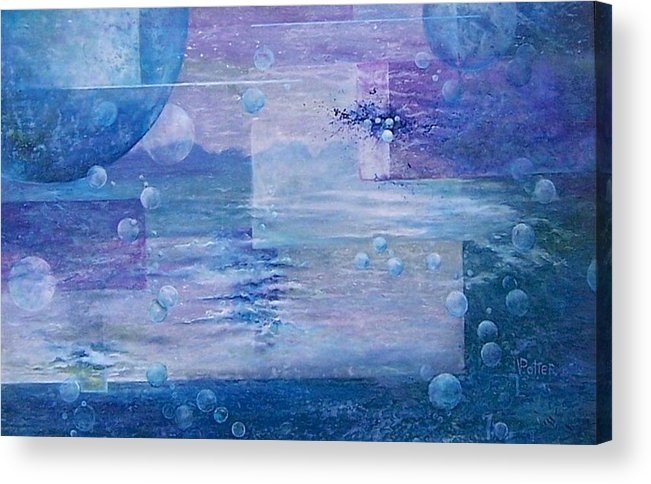 Genesis Acrylic Print featuring the painting Genesis by Virginia Potter