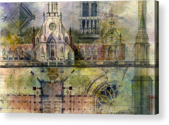 Gothic Acrylic Print featuring the painting Gothic by Andrew King