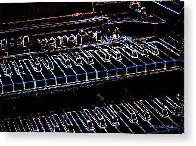Organ Acrylic Print featuring the digital art Hammond Organ by Bill