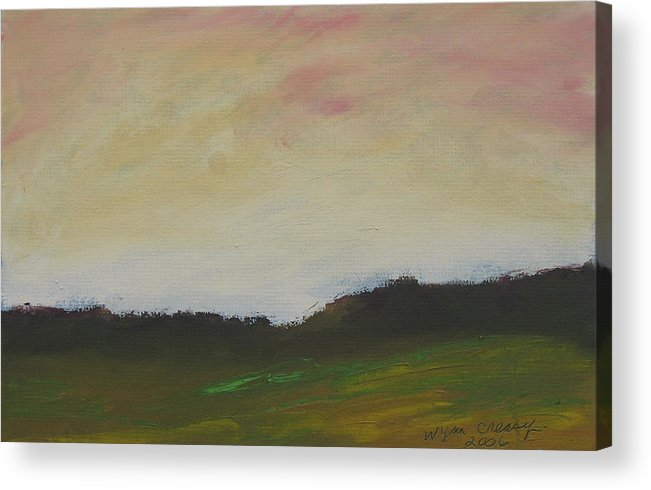 Abstract Acrylic Print featuring the painting Humid Morning by Wynn Creasy