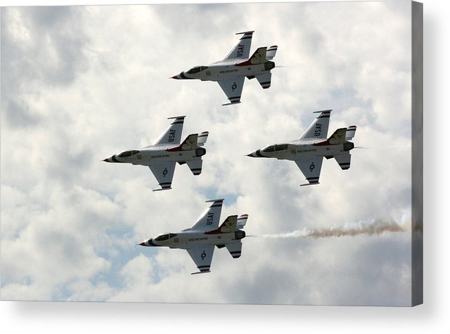 Airplane Acrylic Print featuring the photograph I Think I Am Out Of Gas by David Dunham