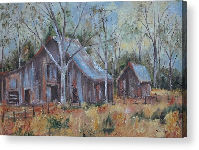 Barns Acrylic Print featuring the painting If They Could Speak by Ginger Concepcion
