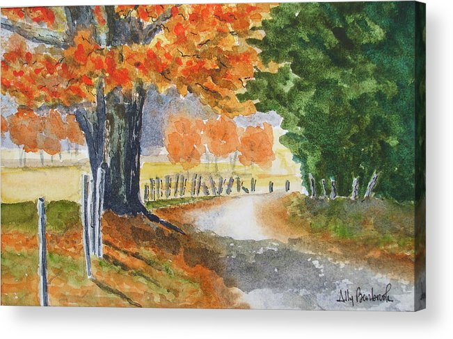Autumn Acrylic Print featuring the painting Indian Summer by Ally Benbrook