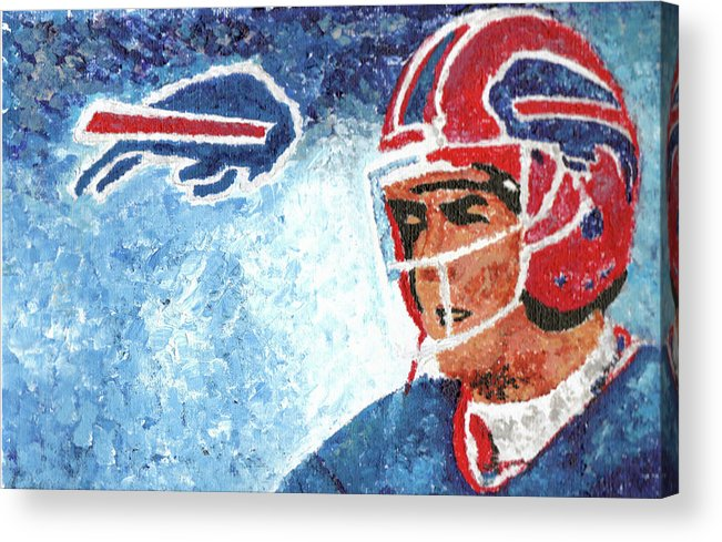 Jim Kelly Acrylic Print featuring the painting Jim Kelly by William Bowers