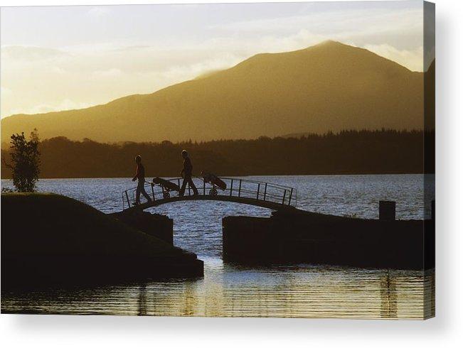 Bridge Acrylic Print featuring the photograph Killarney Golf Club, Lough Leane, Co by The Irish Image Collection