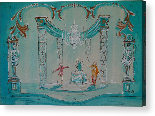Acrylic Print featuring the painting Le Bourgeois Gentilhomme by Terrell Gates
