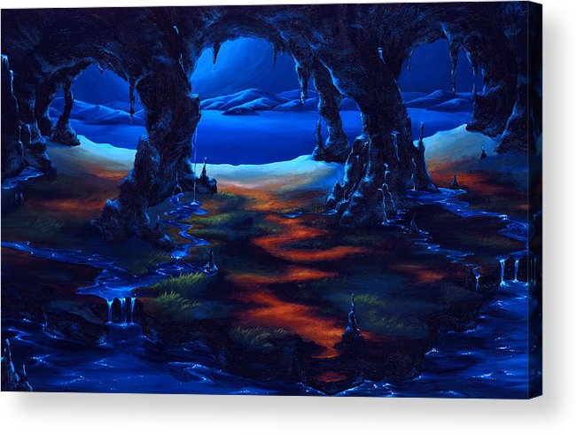 Textured Painting Acrylic Print featuring the painting Living Among Shadows by Jennifer McDuffie