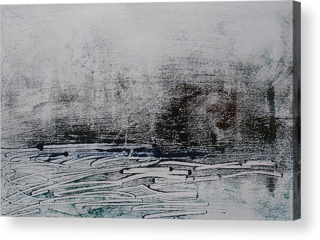 Abstract Acrylic Print featuring the painting Marais 1 by Muriel Dolemieux