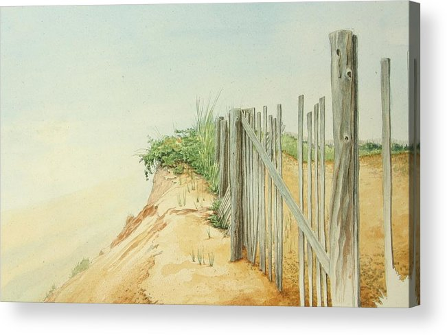 Landscape Acrylic Print featuring the painting Marconi Beach by Stephen Bluto