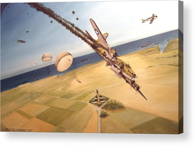 Aviation Acrylic Print featuring the painting Mehitabel by Marc Stewart