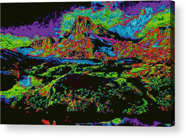 Acrylic Print featuring the digital art Modified Mountain D5b by Modified Image